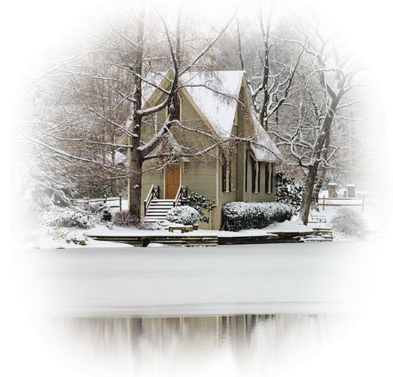 1 hiver maison enneigee for Fenetre hiver
